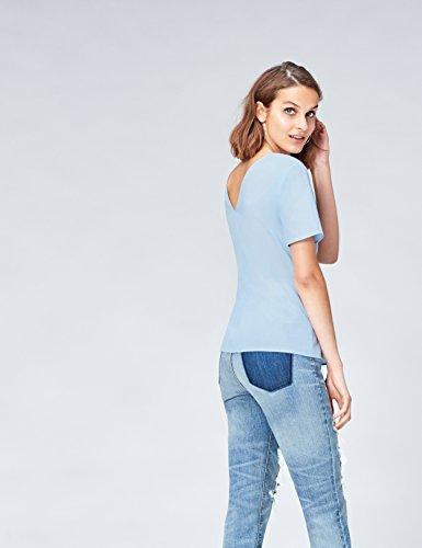 Front Ruched Bleu Blouse Femme Blue FIND 6AxPw56