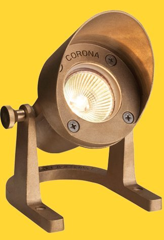 Corona Lighting CL-308-BR Underwater Light in Natural Brass w/ Lamp 3-1/4