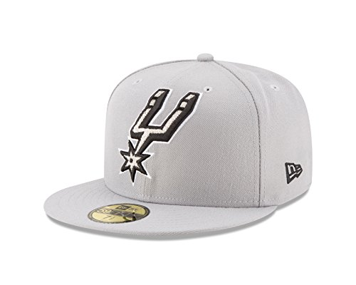NBA San Antonio Spurs Logo Grand Fitted 59Fifty Cap, 7.25, Gray