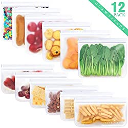 After getting Glamfields reusable food storage bags, what will you get? Storage combination fit seamlessly into your life; Secure and reusable optimal food collocation; Self-evident expenses savings on disposable bags; Glamfields 100% Food Grade reus...