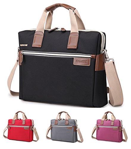 Bonvince Nylon Laptop Sleeve Messenger Shoulder Bag for 15 - 15.6-Inch Laptop / Notebook / MacBook / Ultrabook / Chromebook Computers -