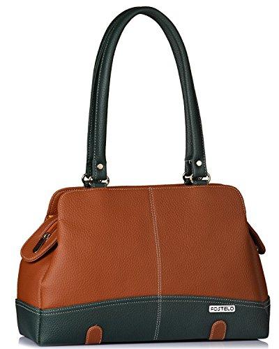 Fostelo Women's Helena Handbag (Tan) (FSB-1148)