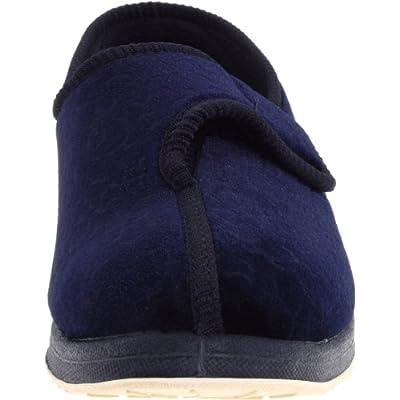 Foamtreads JEWEL, Navy Velour, 9.5 W US   Slippers