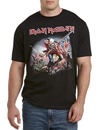 True Nation by DXL Big and Tall Iron Maiden Eddie Graphic Tee, Black, 7XL
