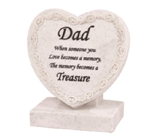 Xpressions Memorial/Grave Heart Cremation Marker/Plaque (Marble Grave Markers)