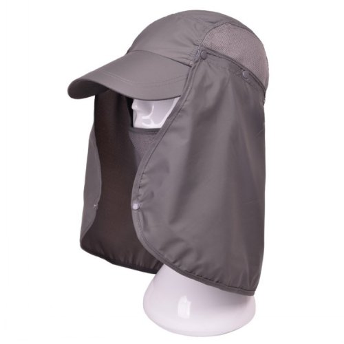 5ad8daa677795 Dark grey Summer Womens Mens Sun Protection Windproof Fishing Cap Neck Face  Mask Flap Hat - Buy Online in Oman.