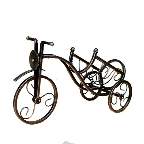 (Kitchen Ware Tricycle Wrought Iron Wine Rack Vintage Home Decoration Crafts)