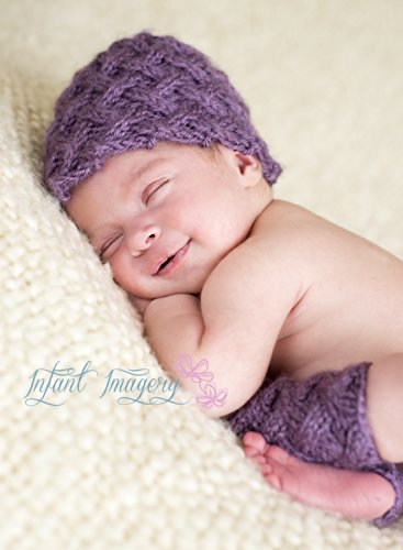 Woven Lattice Stitch Hat and Leggings Set Knitting Pattern - All Sizes Newborn through 1-3 Years (Knitting Woven Stitch)