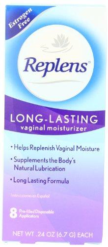 Replens hydratant vaginal longue durée, 8 applicateurs pré-remplis (pack de 2)