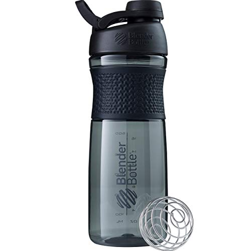 BlenderBottle SportMixer Twist Cap Tritan Grip Shaker Bottle, 28-Ounce, Black 28 Ounce Blender Bottle
