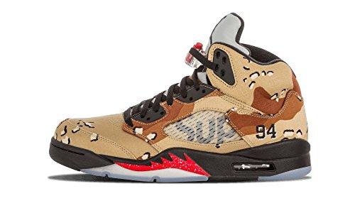 Nike Air Jordan 5 Retro Supreme - Zapatillas de deporte Hombre bamboo/black-classic stone-chino