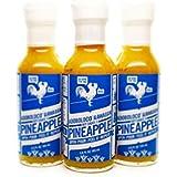 Pineapple Habanero Hot Sauce - Adoboloco Hot Sauce - Medium Sweet Hot Sauce - 3, 5oz Bottles