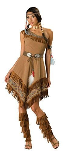 Adult Pocahontas Indian Wig (Incharacter Womens Western Indian Maiden Pocahontas Sacagawea Tribal Costume, S (4-6))