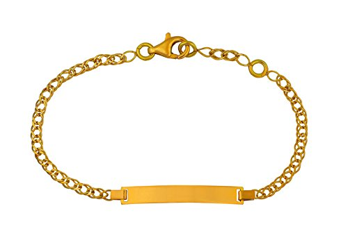 BRACELET IDENTITE RECTANGLE BEBE - Or 18 carats