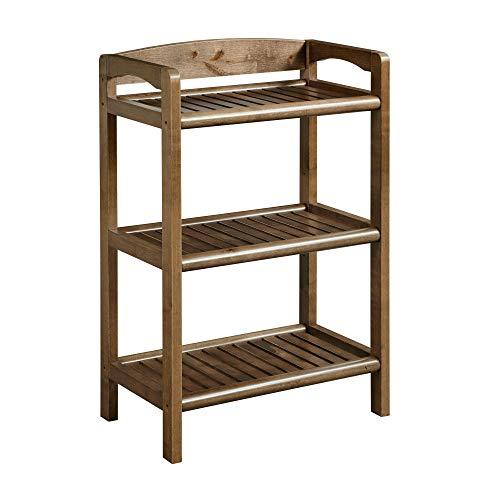 New Ridge Home Goods 2280-CHS Abingdon Low Bookcase, One Size, Antique Chestnut
