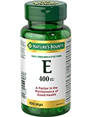 Nature's Bounty Vitamin E Pills and Supplement, Helps Maintain Health, 400iu, 100 Softgels