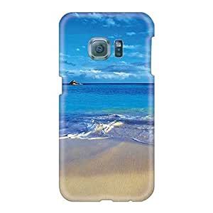 Scratch Resistant Hard Phone Covers For Samsung Galaxy S6 With Customized Nice Blue Freedom Pattern AshleySimms