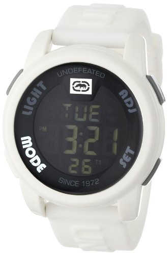 Marc Ecko Men's E07503G2 20-20 Digital White Resin Strap Watch