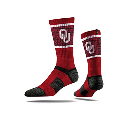 Strideline NCAA Oklahoma Sooners Premium Athletic Crew Socks, Maroon, One Size ()