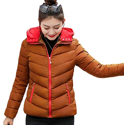 Hooded 3 EKU Coat Parka Quilted Warm Winter Jacket Women's Puffer Down wCXnvqCR