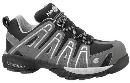 Athletic Style Work Shoes, Men, 10W, Gry, PR
