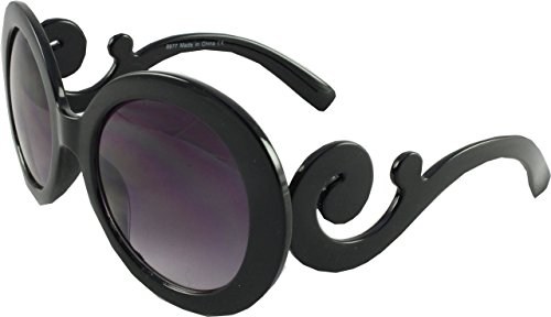 Revive Eyewear Women's Oversized Round Style Pravda Black Frame/ Black Lens Non Polarized Sunglasses - Sunglasses Uk Round Black