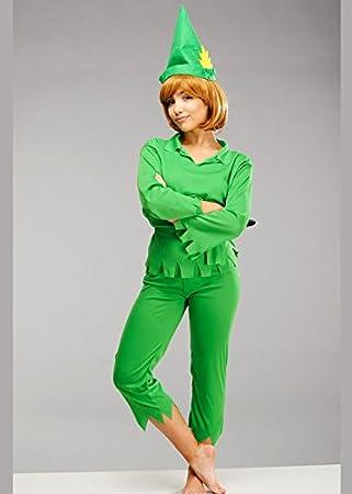 Magic Box Señoras Petite Verde Traje de Peter Pan: Amazon.es ...
