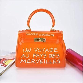 bdb0a1b8e45 OneMoreT Sac à main à bandoulière pour femme Transparent Alphabet s orange   Amazon.fr  Instruments de musique