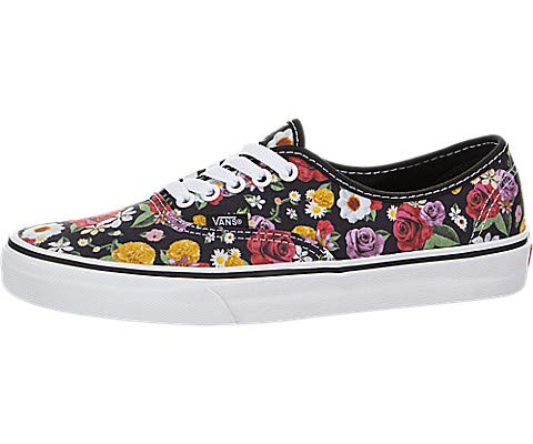 Vans LUX Floral Authentic Unisex Womens Skateboarding-Shoes VN-0A38EMU5H_6.5 - Black/Floral/True White