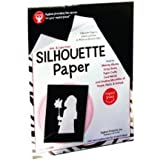 Hygloss 14851 25-Sheet Silhouette Paper, 8.5 by 11-Inch, Black