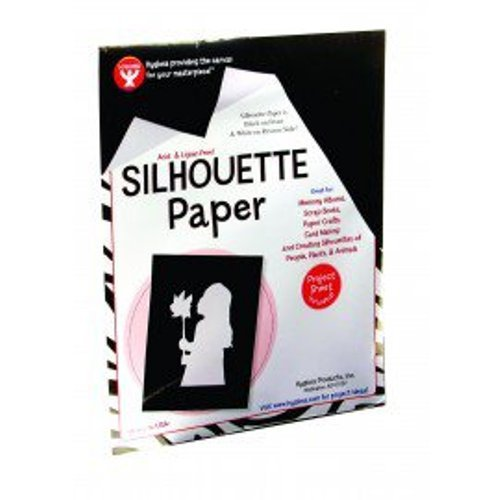 Hygloss 14825 25-Sheet Silhouette Paper, 8 by 10-Inch, Black