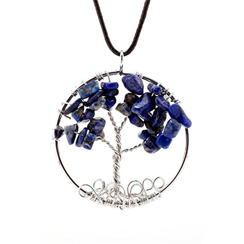 [Dream Alice DA-XL563-blue Tree Of Life Pendant Necklace Handmade Necklace (Blue)] (Witch Pretty Pink Toddler Costumes)