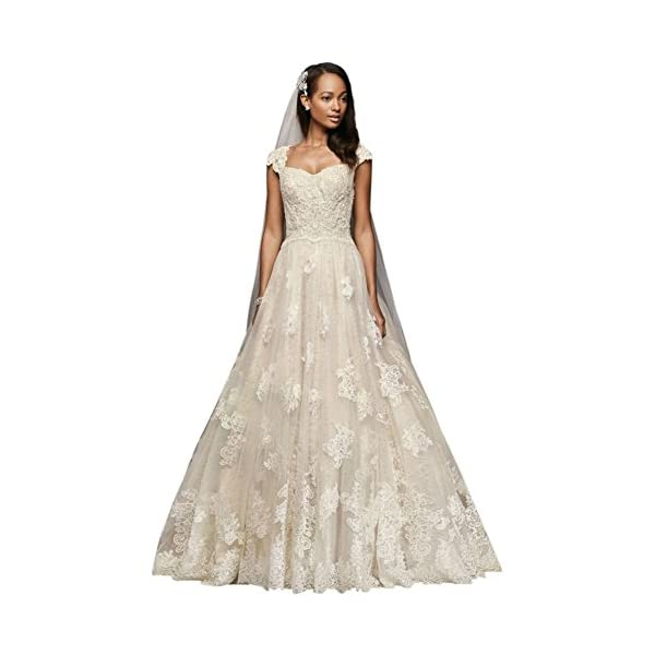 b879fc2b2e1c7 Cap Sleeve Lace Wedding Ball Gown with Beading Style CWG768