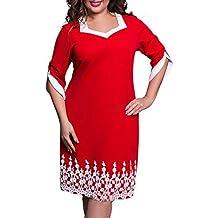 Diamondo Plus Size Dresses Summer Women Lace Patchwork Knee Length Elegant Party Casual