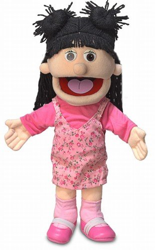 14'' Susie, Peach Girl, Hand Puppet by Silly Puppets