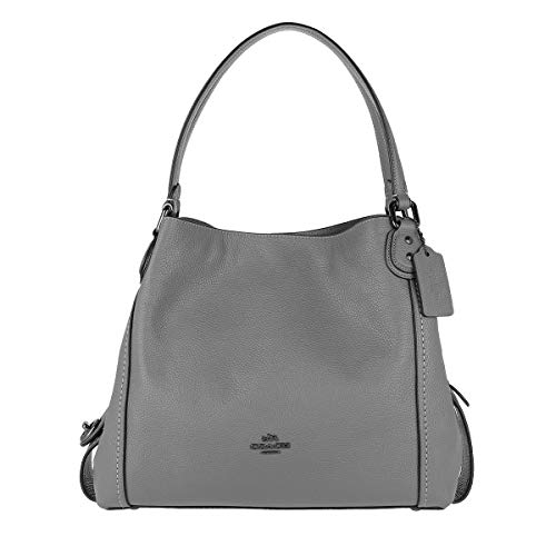 COACH Women's Pebbled Leather Edie 31 Shoulder Bag (Heather Grey)