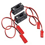 #2: 2 Pack-ShareGoo On/off Power Switch Battery Receiver JST Connector for HSP RC 1/10 1/8 Car Crawler Buggy Multicopter Airplane -Red