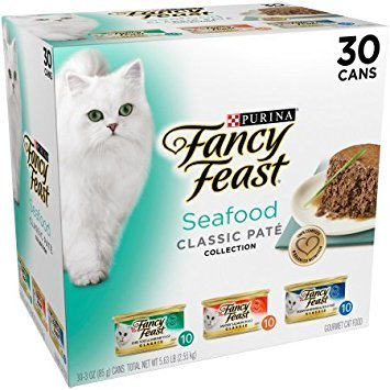 Purina Fancy Feast Classic Seafood Feast Collection Cat Food, 3.0z (2 Pack of 30 cans) ()