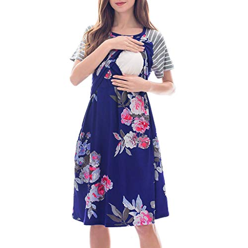 Nadition Elegant Female Pregnant Maternity Dress Baby Woman Breastfeeding Skirt -