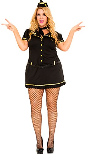 Mile High Plus Size Costumes (Mile High Club Stewardess Plus Size Adult Costume - Plus Size 1X/2X)