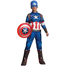 Rubie's Costume Avengers 2 Age of Ultron Child's Deluxe Captain America Costume, Large
