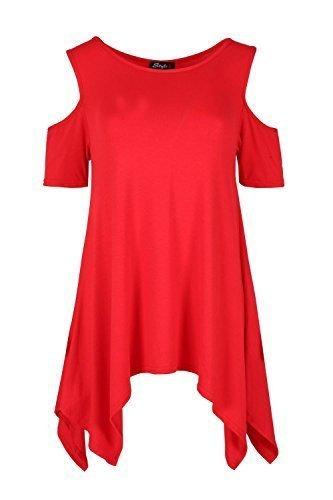 Fashion Star - Vestido - Sin mangas - para mujer Rosso