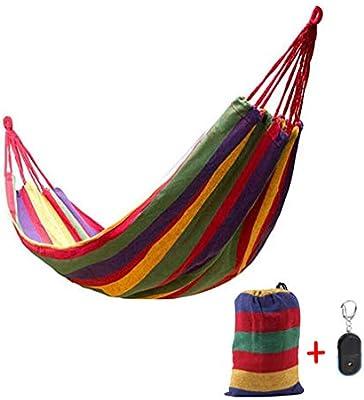 Cheekbonny Hamaca de algodón 280x80mm, Hamaca Jardin Exteriores 1 Personas, Acampar y al Aire Libre o Jardines y Viajes, Carga máxima 200 kg, Rojo: Amazon.es: Jardín