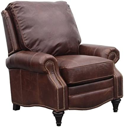 BarcaLounger Avery 7-2160 Push Back Manual Push Back Recliner Chair – 5146-86 Bradford Whiskey All Leather with White Glove in-Home Delivery and Setup