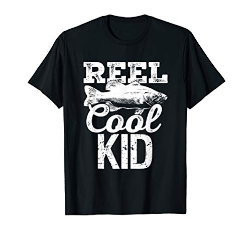 (Reel Cool Kid Fishing Outdoor Angler T-Shirt )