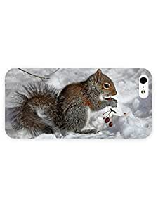 3d Full Wrap Case for iPhone 5/5s Animal Eating Squirrel