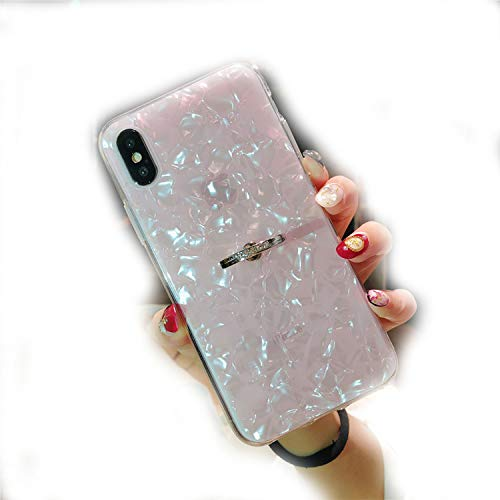 Soft TPU Glitter Phone Case for iPhone 7 8 Dream Shell for iPhone X XS Max XR 6 6S Plus Cover with Ring Holder
