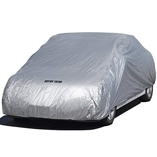 (Motor Trend All Season WeatherWear 1-Poly Layer Snow proof, Water Resistant Car Cover Size XL1 - Fits up to 210