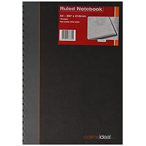 Collins Ideal - Cuaderno de anillas (tamaño A4, 192 páginas, hojas a rayas)
