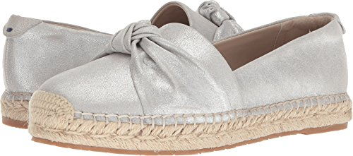 Tahari Women's Tt-Harper Ballet Flat Silver Dusty Metal Leather